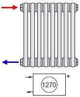 Zehnder Боковое подключение радиаторов слева № 1270