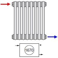 Zehnder Диагональное подключение радиаторов по бокам № 1670
