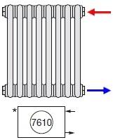 Zehnder Боковое подключение радиаторов справа № 7610